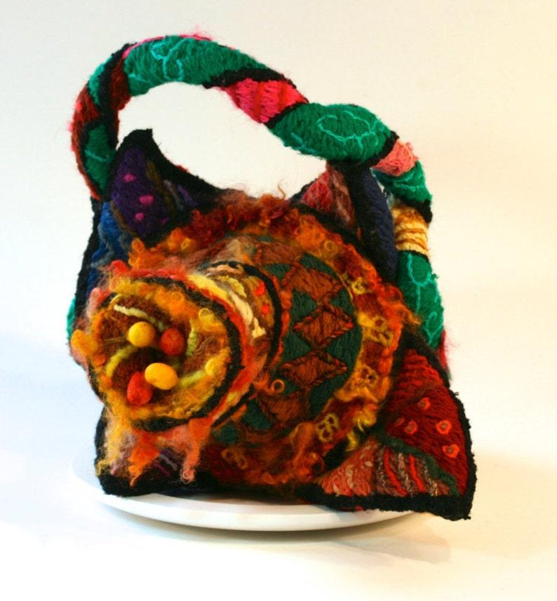 Ormus Cadmium  Surreal embroidery sculpture handbag David image 0