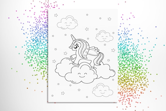 - Magical Unicorn Coloring Page Printable Colouring Pages Etsy