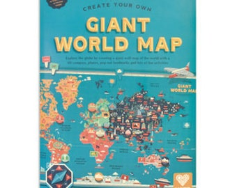World explorer box gift, birthday box gift, map lockdown gift, gift for boy, gift for girl, world map gift, educational gift