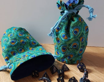 Peacock Dice Bag/ Bag of Holding