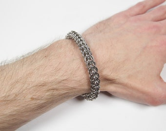 chain maille BeeStings weave  choose size and color chain mail Medical ID Replacement bracelet Custom made with Chainmaille