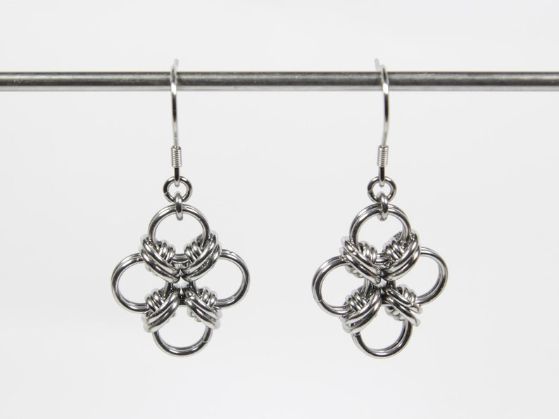 Orbitals Earrings Chainmaille Earrings Stainless Steel image 0