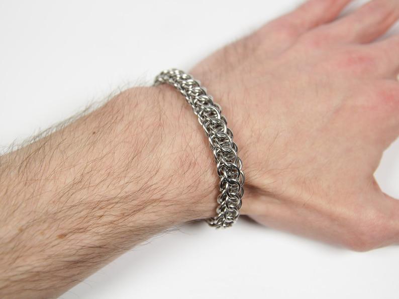 Flat Full Persian 5 in 1 Bracelet Chainmaille Bracelet 18swg (1.2mm)