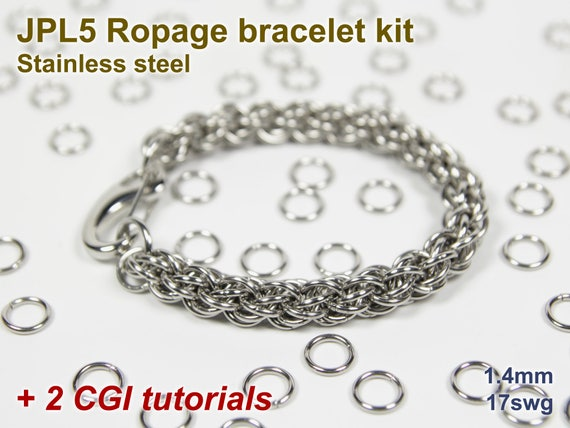 Caged Bead Bracelet Kit Jump Rings Stainless Steel Bearing Balls Brass Caged Bead Tutorial Chainmaille Kit Chainmail Kit