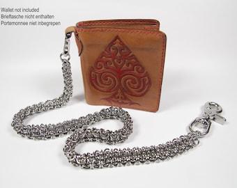 Gridlock Byzantine Wallet Chain, Stainless Steel, Chainmaille Biker Wallet Chain, Chainmail Chain, Trouser Chain, Biker Chain Belt