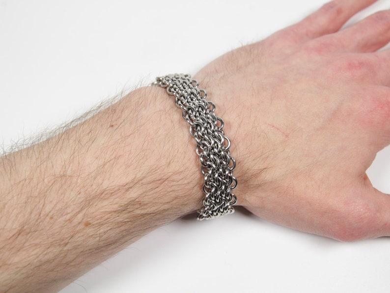 Oops Bracelet Chainmaille Bracelet Stainless Steel image 0
