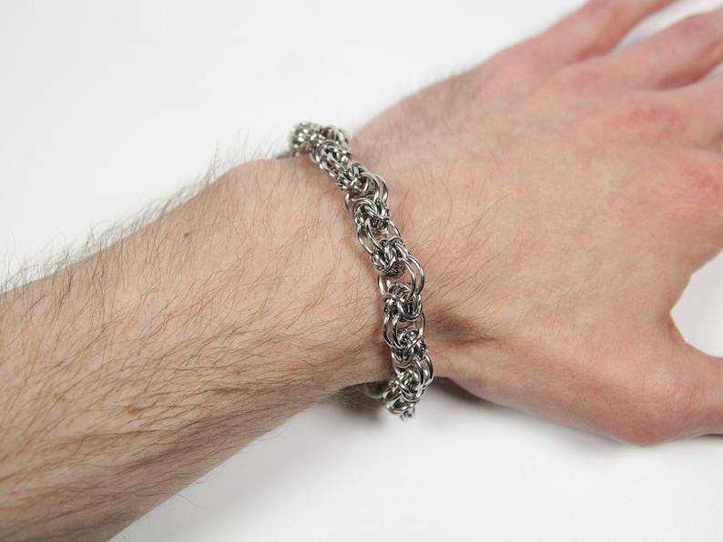 Trizantine Bracelet Chainmaille Bracelet Stainless Steel 18swg (1.2mm)