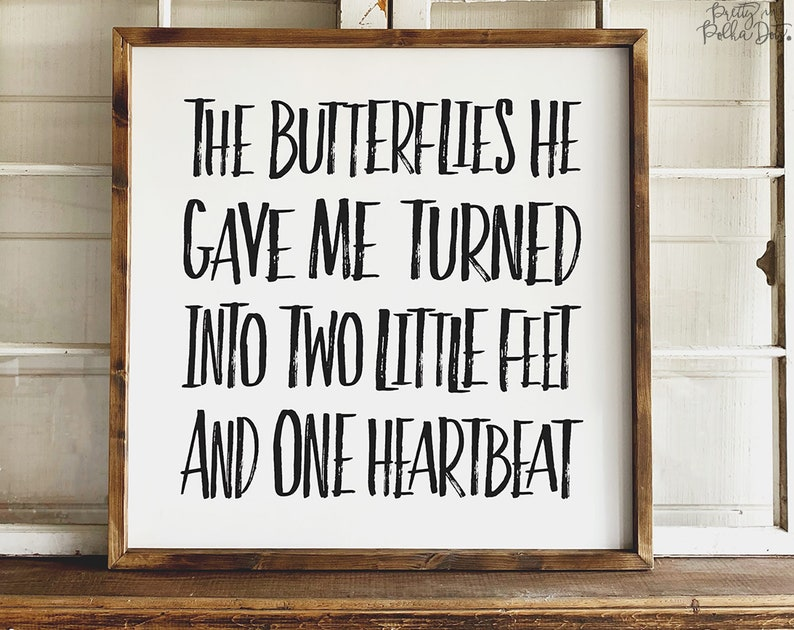 The Butterflies He Gave Me  Two Little Feet and One Heartbeat image 0