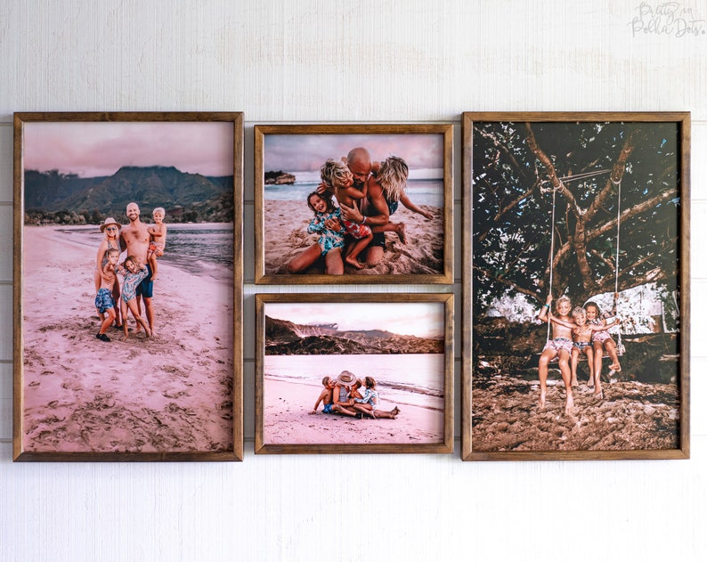 LARGE Wood Photo Print  FREE SHIPPING  Your Photo Print on image 0