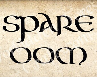 Spare Oom Sign
