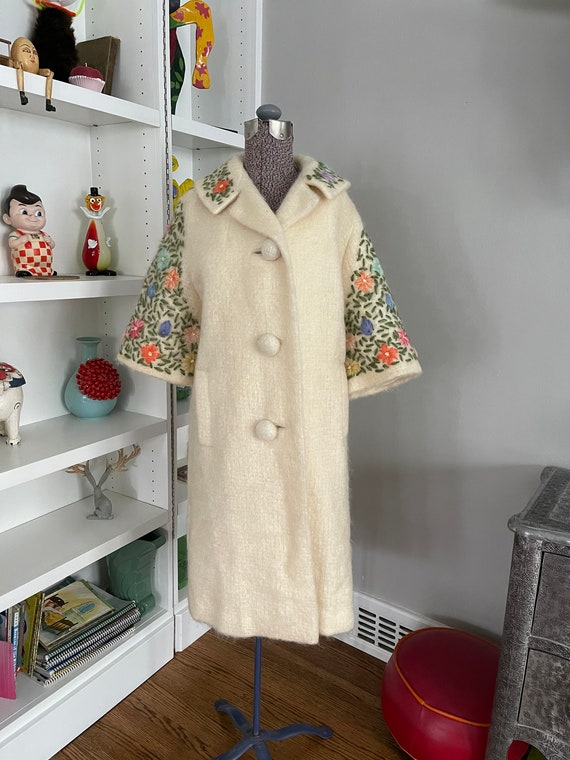 1950's Vintage Mohair Embroidered Coat