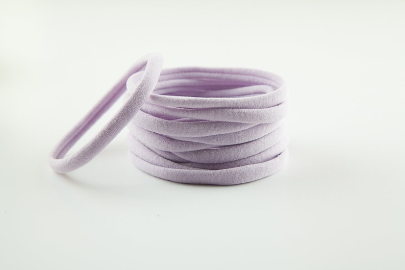 One Size Fits most Nylon Baby Headband,Toddler WHOLESALE lavender Nylon headband bulk nylon Infant Newborn Skinny Very Stretchy