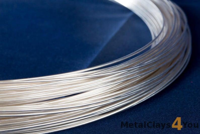 925 Sterling Silver Round Wire Half Hard image 0