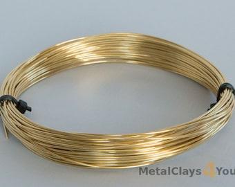 Unplated Soft Brass Round Wires