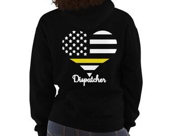 5ebe0e1e21 911 Dispatcher Hooded Sweatshirt, #iam911, thin gold line, 911 dispatcher,  dispatcher, 911 dispatcher gifts, dispatcher gift,dispatch hoodie