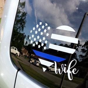 Police Decal Police Lives Matter Ar-15 Gun Vinyl Sticker  Law Enforcement Gift