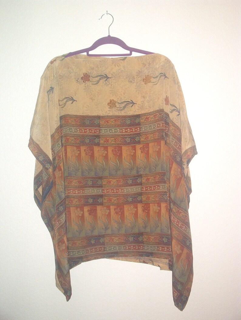 APRILE women/'s silk poncho-M to XXXL-handmade USA