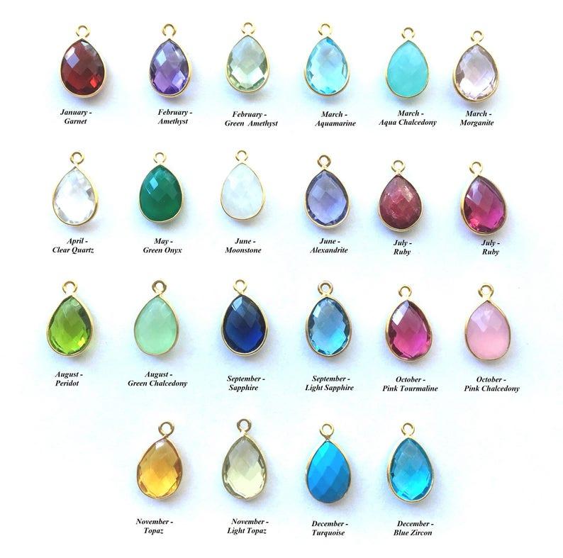 Gift for Grandmothers Custom Birthstone Necklace Mom Gift Mother/'s Day Birthstone Necklace Mother/'s Day Jewelry Birthstone Charms