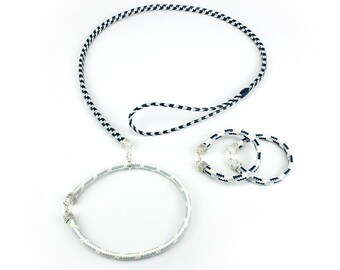 Collar and leash plus two matching bracelets
