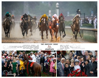 Justify Kentucky Derby 2018 Photo Composite 10 x 8