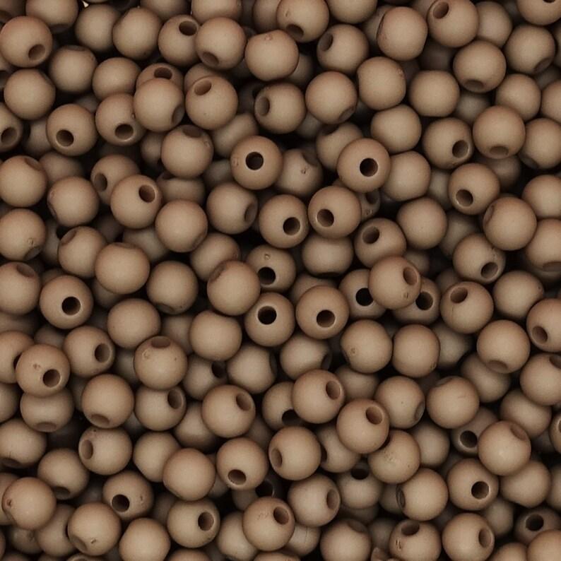 3 gramm = approx acryl mat 100 Pcs. 4mm Beads brown-grey