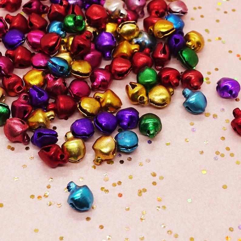 Color: mixed Bell Jingle Pendant Charms  Pendant small tiny mini 4g  approxa 50 Pcs