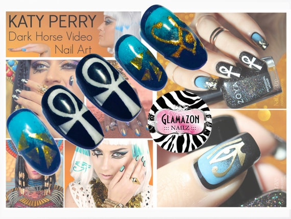 Katy Perry Darkhorse Press On Nails Fake Nails False Nails Etsy