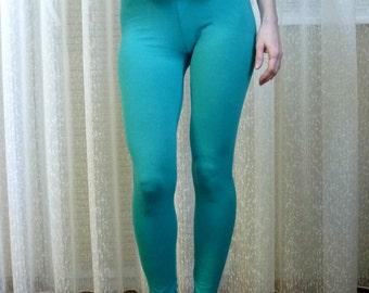 cdf50a6fb Turquoise Green Leggings