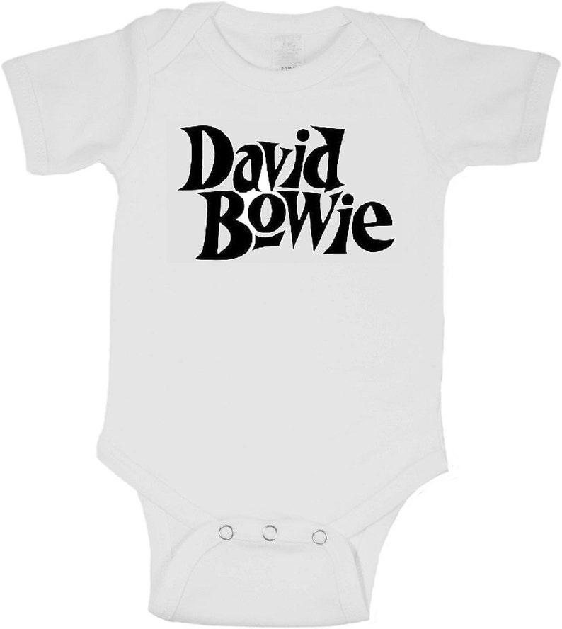 BOWIE Baby Onepiece 0,3,6,9,12,18,24 Months Onesie 80/'s Newborn Toddler Kids Tshirt