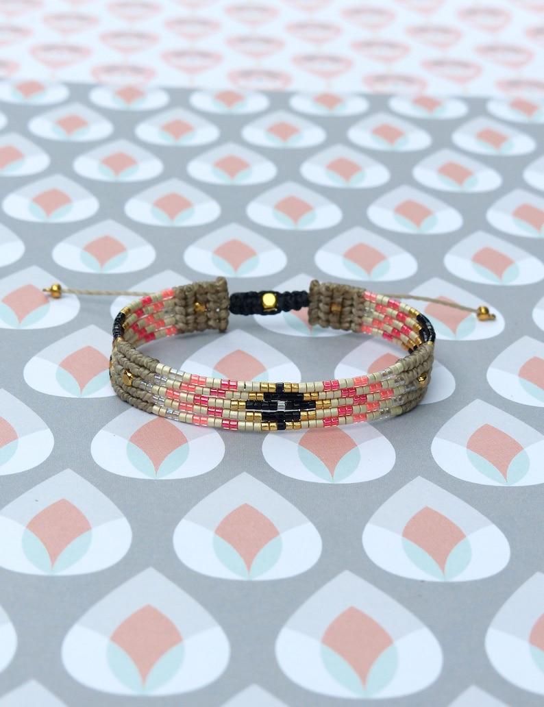 f8776f756c59 Macrame and miyuki delica beads woven bracelet Colors