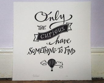 TYPOGRAPHIC POSTERS - Hand-drawn and original typographical posters of your favourite quote - Made To Order