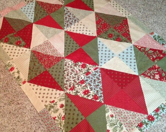 Christmas Harlequins throw