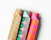 Double Sided Wrapping Paper, mixed pack, 3 sheets