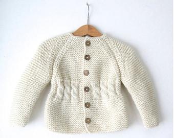 8e8d4435e0b5 Wool baby cardigan