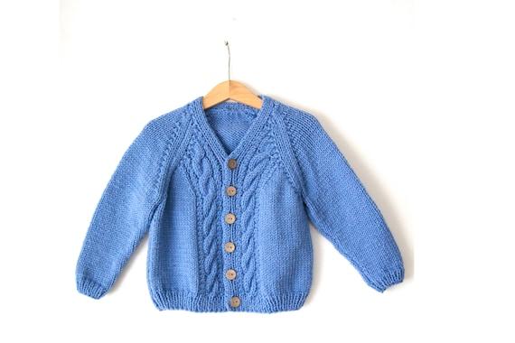 fdb1e8b44e17 Hand knitted %100 wool unisex baby toddler cardigan jacket