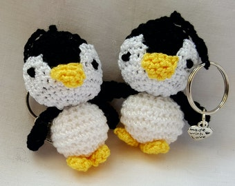 Penguin crochet Key ring / stocking filler/ birthday gift / party favour / wedding favour / mothers day gift / fathers day