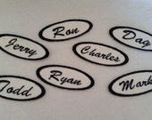 Oval Iron On Name Patch Biker Tag Biker Patch Name Tag Fabric Label Vintage Style
