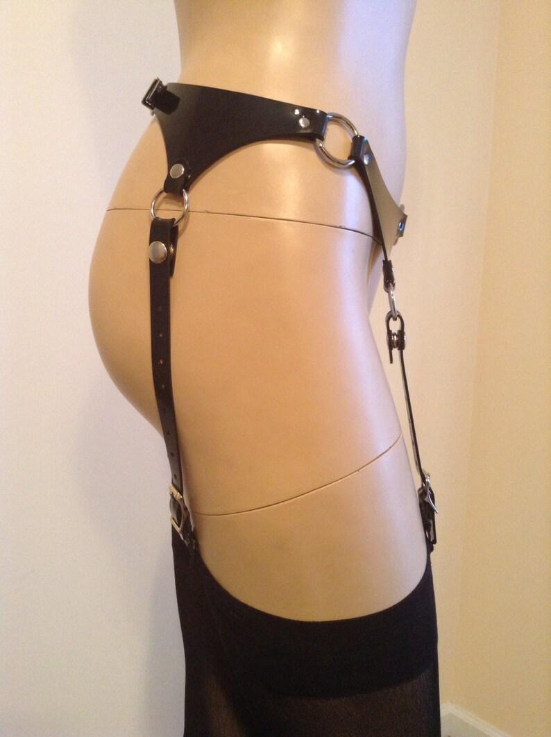 fb21cfb67 Vegan Garter Belt w  Four Adjustable Garters