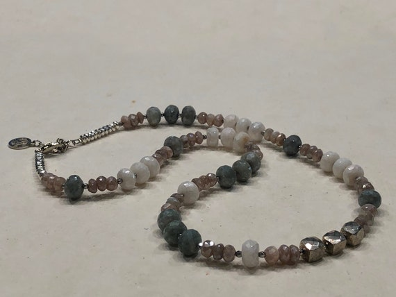 Moonstone and Hematite Necklace