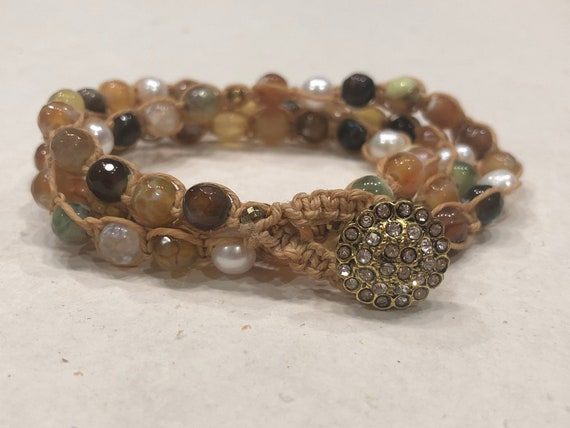 Boho Glam Shambala Bracelet or Necklace