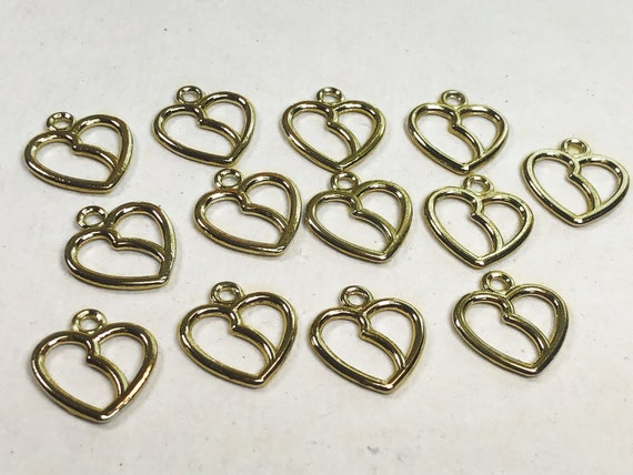 Gold Heart Charms Pack