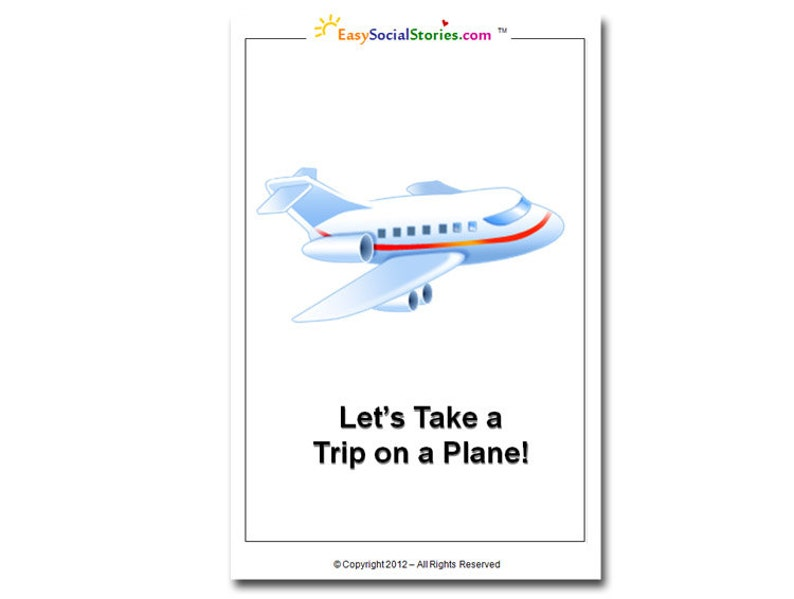 Let's Take a Ride on an Airplane - Easy Social Story