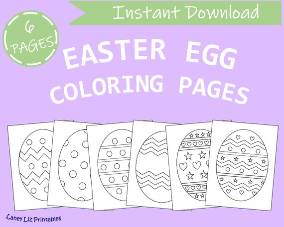 Printable Easter Egg Coloring Pages  Easter Egg Coloring