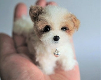 Assorted Needle Felted Puppies: Maltese, Shih Tzu, Shorkie, Cavapoo, Poodle, Yorkie Dog Lover Gift, Pet Loss Memorial, Blythe Accessory