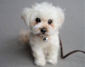 Needle Felted Cockapoo, Custom Pet Portrait, Felt Maltipoo Spoodle Maltese Golden Doodle Dog, Poodle, Miniature Cavapoo, Cavoodle, Dog Gift