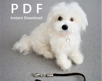 Needle Felted Dog Leash DIY PDF Tutorial: How to Make Leather Leash for Small Needle Felted Animals. Easy Needle Felting Accessory Tutorial