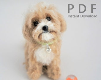 Needle Felted Dog Collar DIY PDF Tutorial: How to Make Cute Collars for Small Needle Felted Animals, No Pattern! Easy Accessory Tutorial