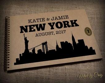 Personalised Travel Memory Book Photo Album New York USA Scrapbook Emigrating Leaving Present Honeymoon Gift Idea Birthday