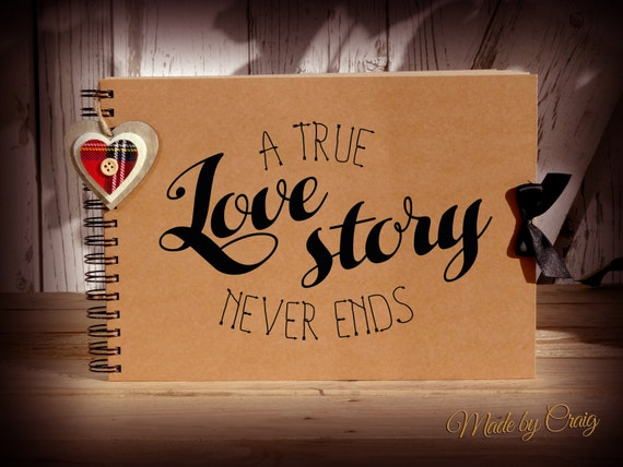 A True Love Story Never Ends Scrapbook Photo Album Couples Etsy