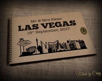 Livre de mémoire de voyage personnalisé, Album Photo, album de Las Vegas, USA, Album Photo de famille, lune de miel idée cadeau, cadeau d'anniversaire
